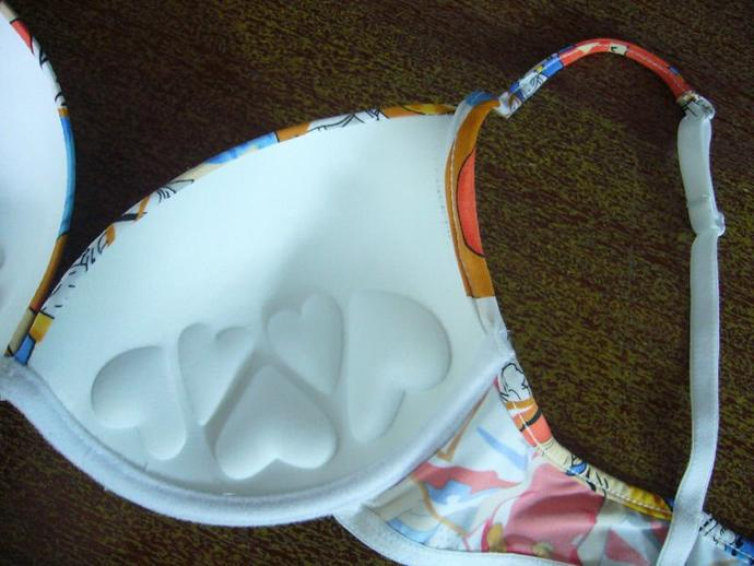 Girls, Push up bra's interior look like this with hearts?