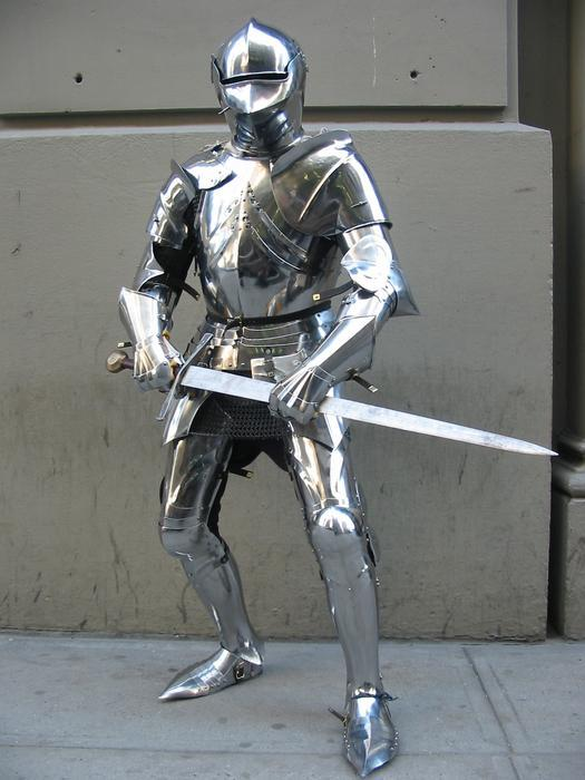 What would be YOUR reaction to a full on KNIGHT walking around in the open?