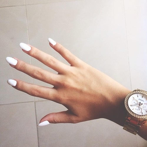 Guys, what do you think about white nail polish on girls?