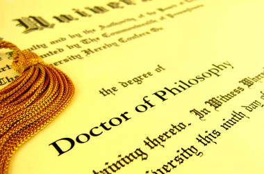 How many Ph.D (Doctor of Philosophy) holders are there in GaG?