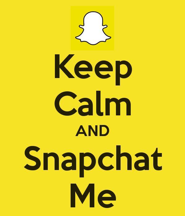 Do you like Snapchat ? Do you have Snapchat ?