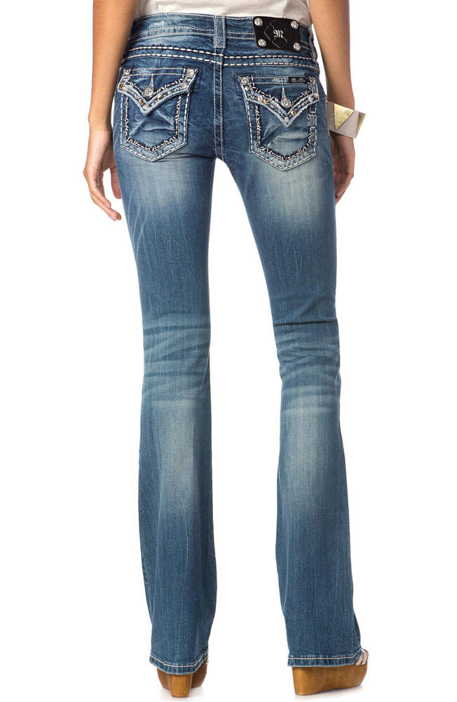 Where can I find jeans with flap pockets?