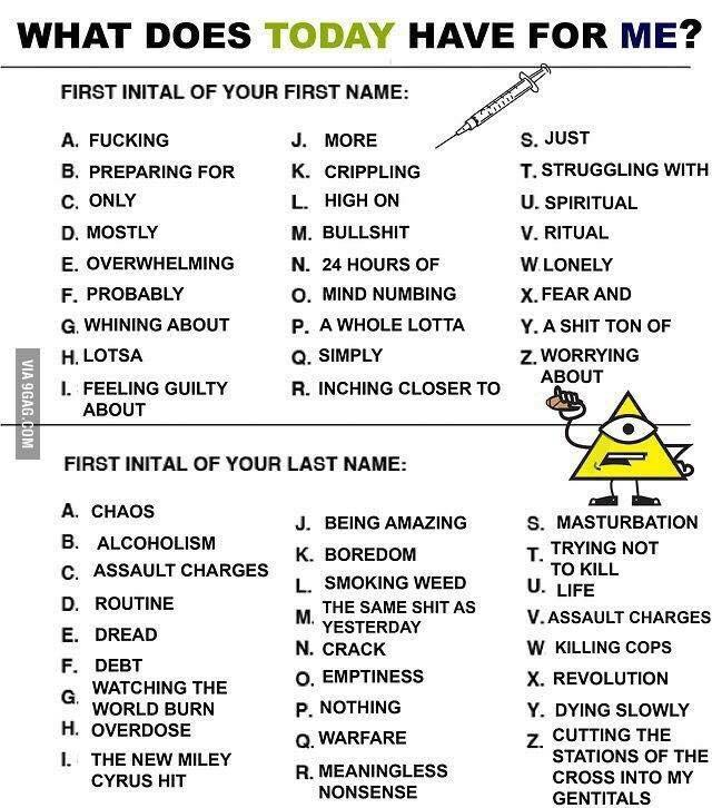 Just for fun, what does yours say?