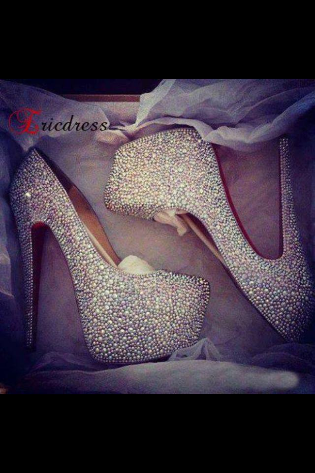 glitter heels - cute or tacky?