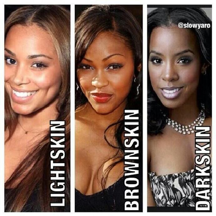 Brown skin or dark skin?