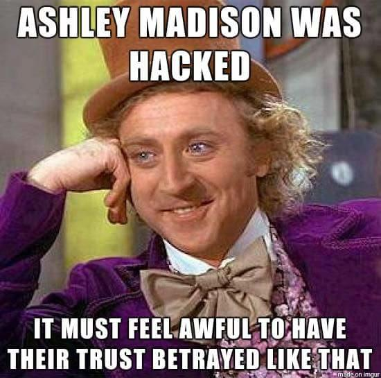 What are your thoughts on Ashley Madison being hacked?