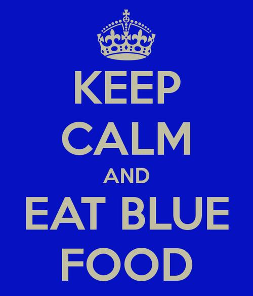 List as many blue-colored food as possible?