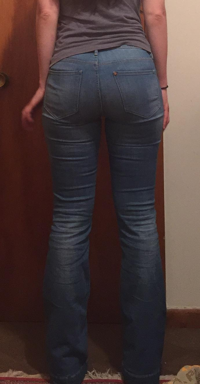 why does the back of my jeans have so many wrinkles? They aren't too small but I think it looks weird. Should I not wear them?