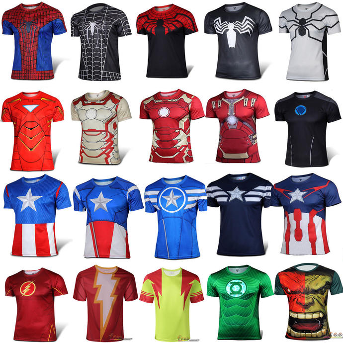 If you had to choose 2 superhero shirts between all of these which would you take?