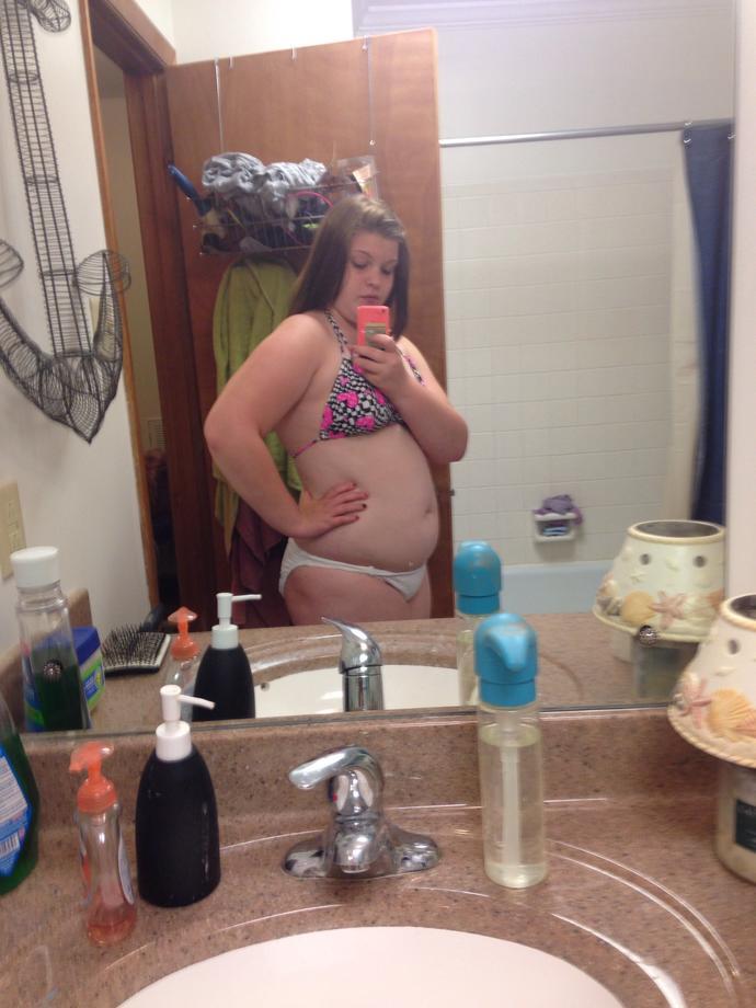 Am I too fat for a bikini? Pics included?