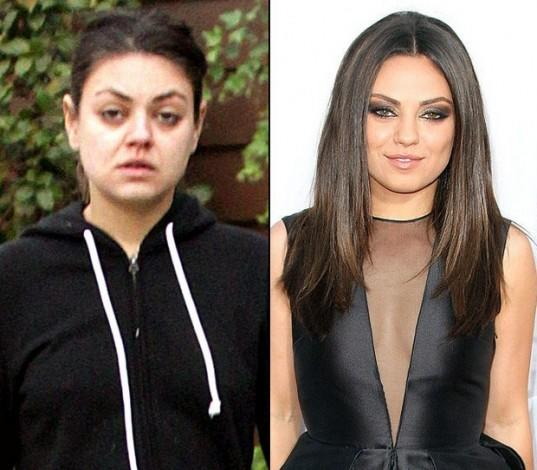 Why does Mila Kunis look so drastically different without makeup?