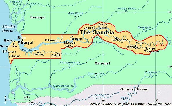 When you think of The Gambia, what first comes to mind?
