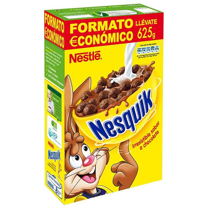 What are Nesquik cereals made of?