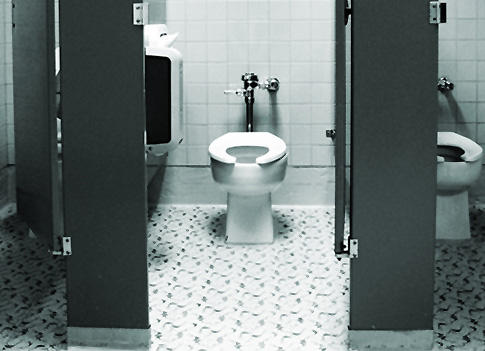 What's the nastiest thing you've ever seen in a public washroom?