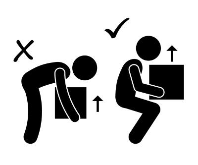 When you drop something do you bend over or squat to pick it up?