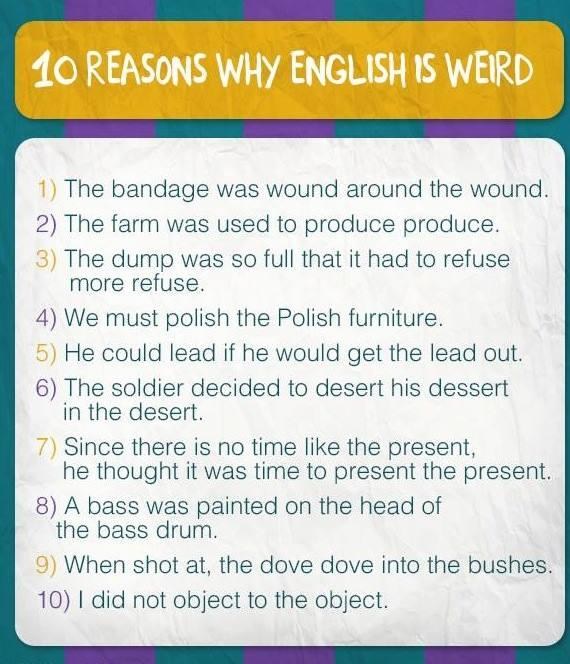 Do you think English is a weird language to learn?