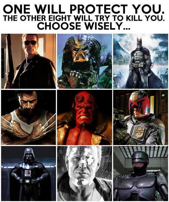 Who would you choose to protect you and why?