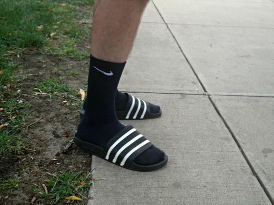 Do girl find it annoying when guys wear socks and sandles? Like the Nike and