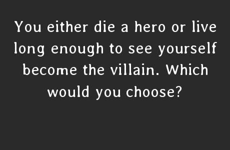 Would you rather be a superhero or a supervillain?