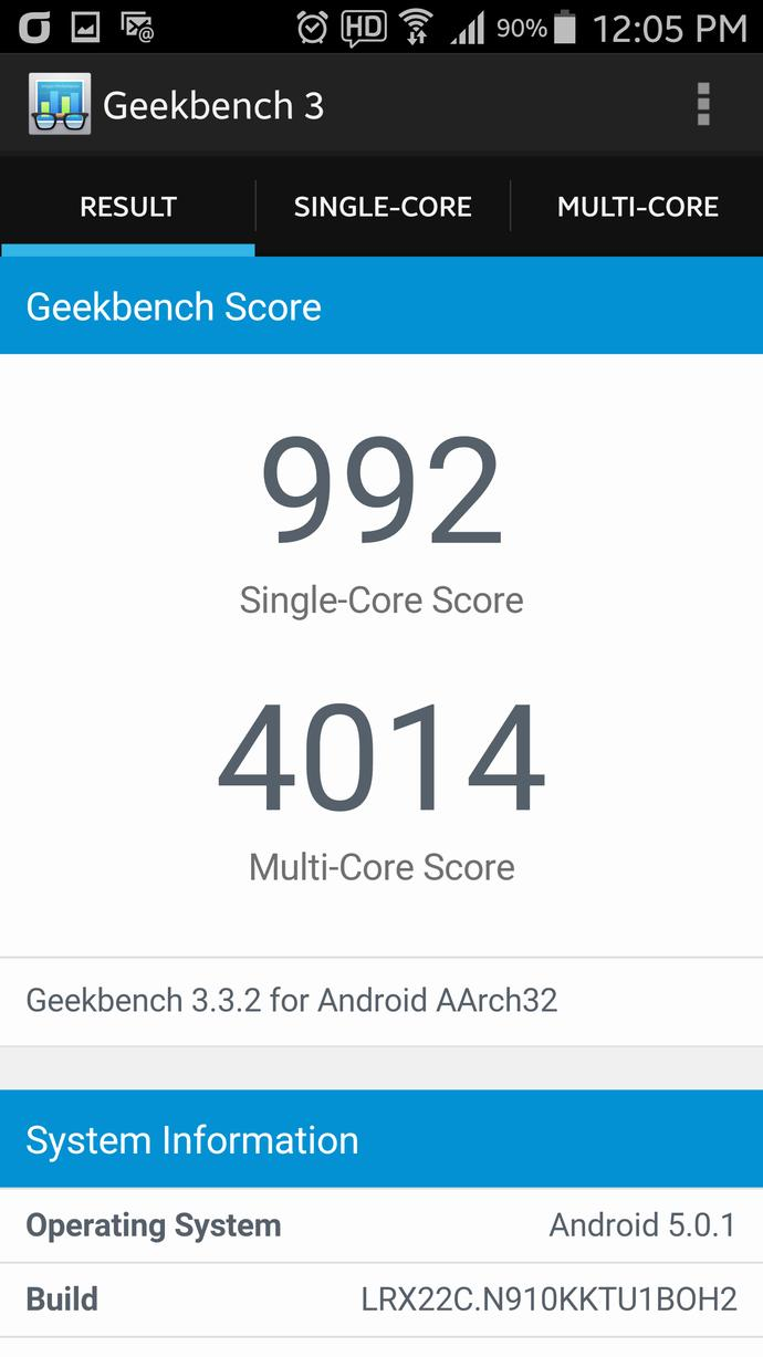 What's your phones geekbench 3 Score?