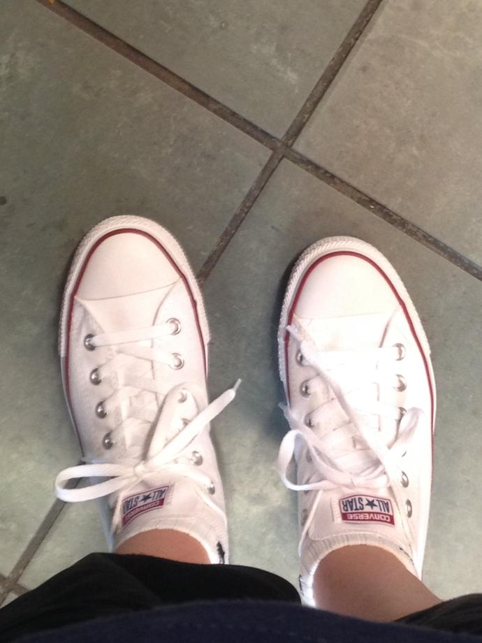 Girls, how do WHITE converse look on guys?