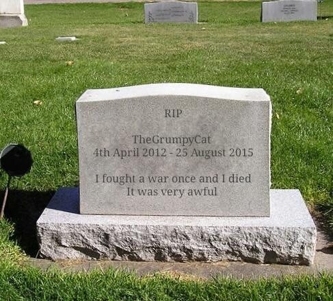 I fought a war against GaGers and I died. It was very awful. Rate my tombstone please? Any other comments?