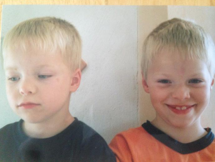 Do I look similar to the boy in the other photo, looking at the face proportions ?