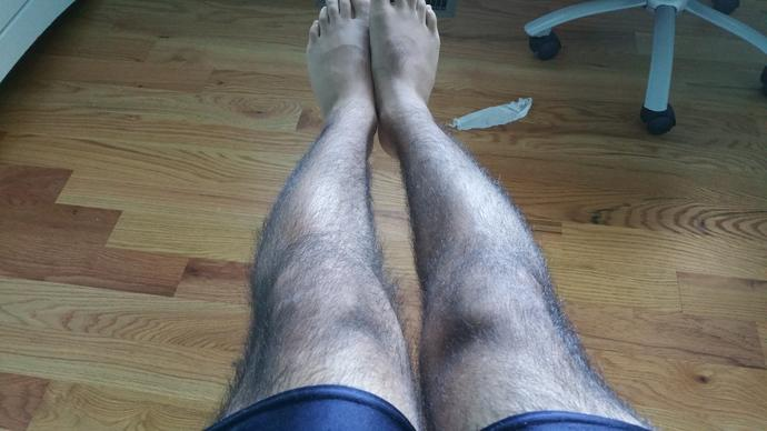 Are my arms and legs too hairy and should I trim them?