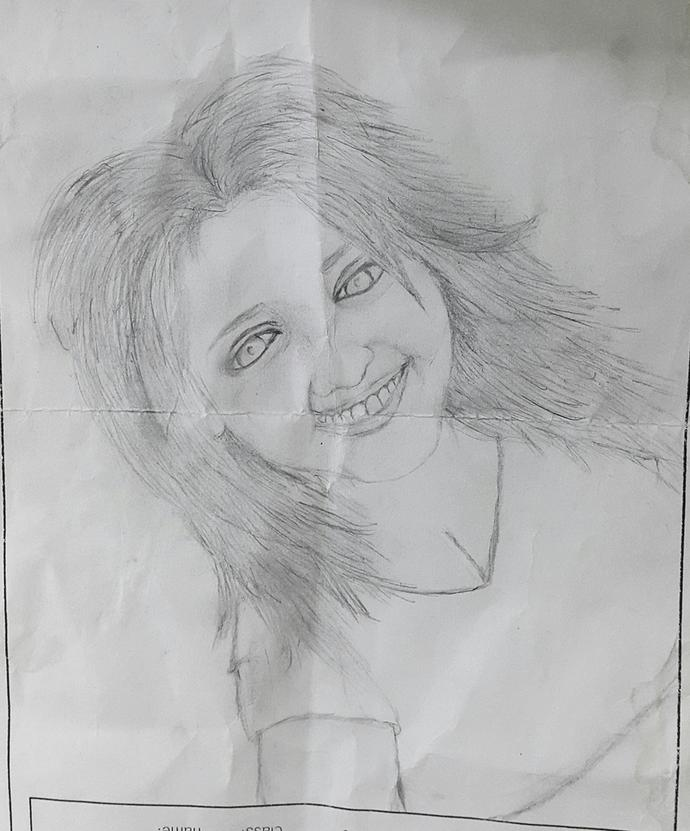 Is this picture I Drew of my Girlfriend flattering?, how would you feel being sent this?