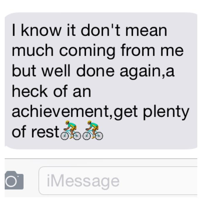 If a guy dumped you months ago and then sends this text, what do you think it means?