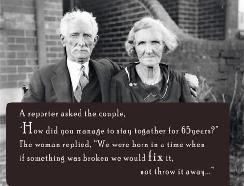 Why did marriage in the past last longer than nowadays?