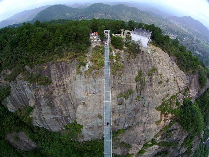 Would you walk across the worlds longest glass bridge?