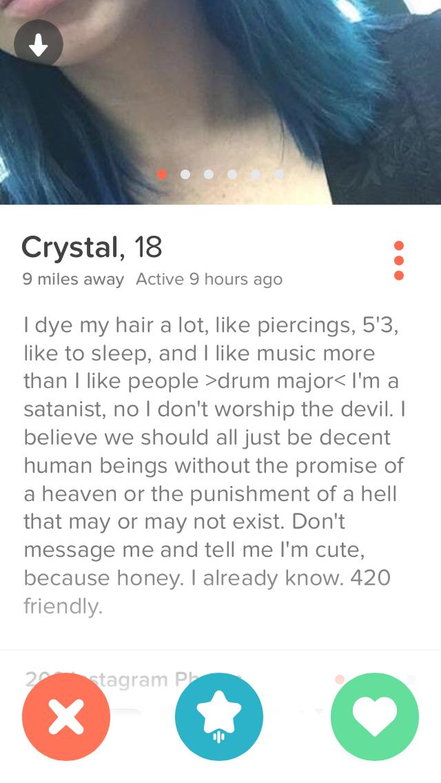Why are the women on Tinder so freakin' ridiculous?