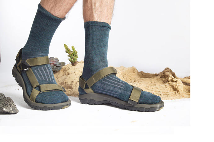 What's wrong with socks and sandals?
