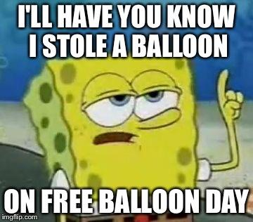 Would you punish your kid if they stole a balloon on free balloon day?