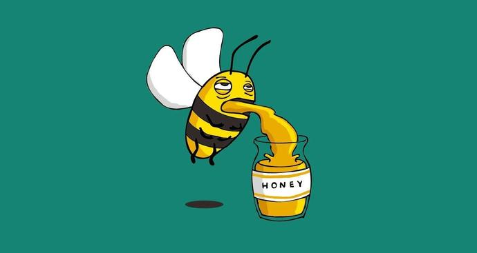 Is honey bee puke?