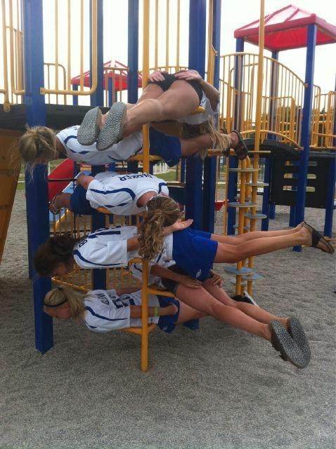 What these girls are doing?