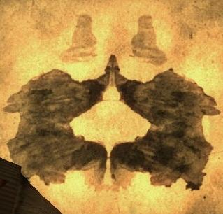 What do you see in the ink blot?