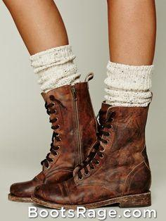 Anyone know where I can get brown lace-up booties?