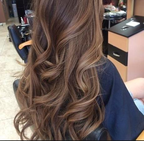 Guys: which hair color (brown or ombre, pics shown) do you think is the most attractive?