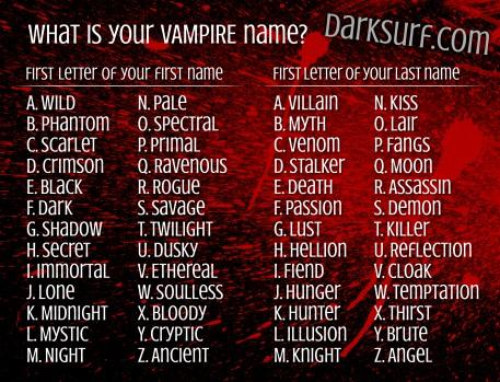 What's your vampire name?