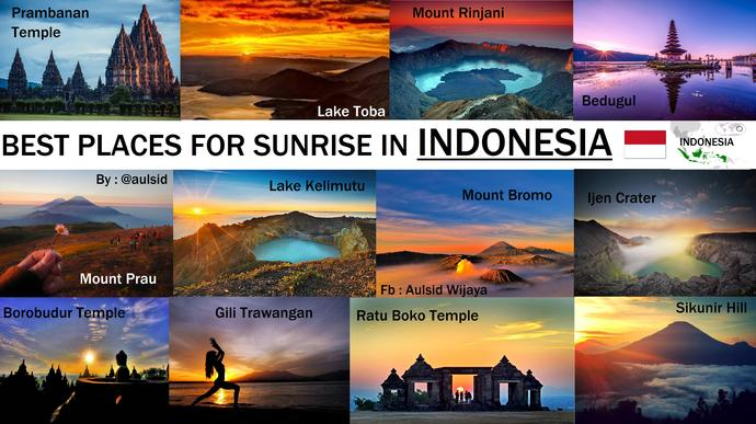 What Do You Think About These Indonesian Sunrise Spots?