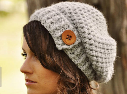 Where can I find a hip and stylish slouchy crochet hat?