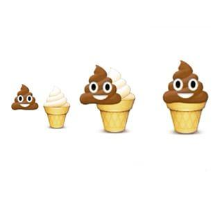 How many of you thought,that the poop emoji is chocolate ice-cream?