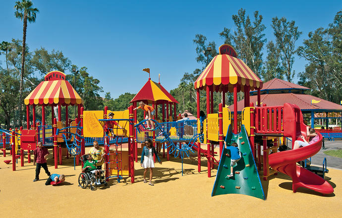 Do you ever want to go to a playground and play there yourself?
