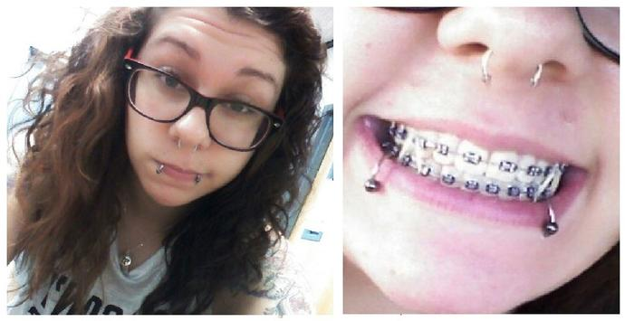 Anyone into girls with lots of metal/piercings in their mouth?