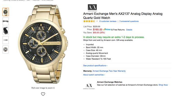 What do you think about gold watches?