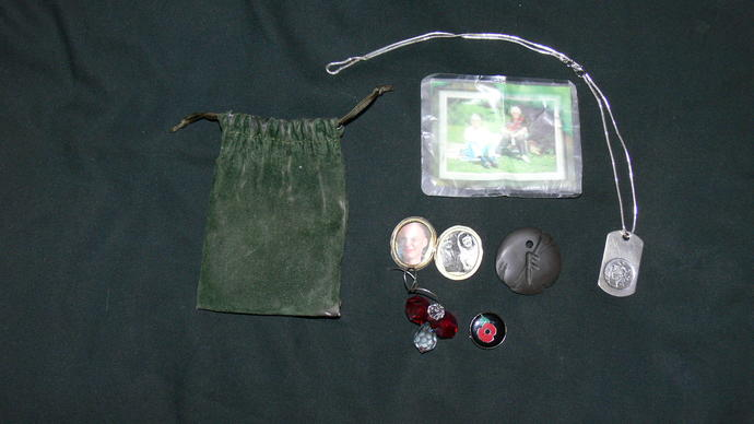 Do you have any lucky charms? this is my charm pouch which I wore around my neck during my tours of afgahnistan?