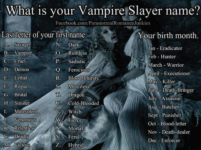 What is your Vampire/Vapiress name?