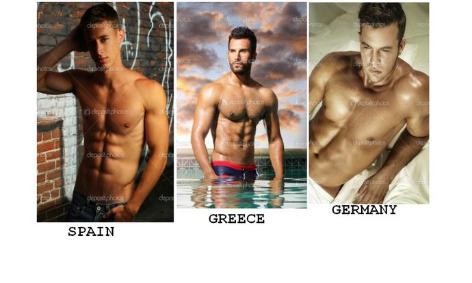 Girls, WHO IS THE MOST SEXY MEN IN THE PICTURE? WHICH COUNTRY?